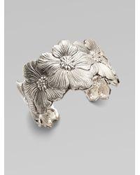 Buccellati | Metallic Blossom Sterling Silver Flower Cuff Bracelet | Lyst