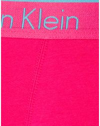 Calvin Klein - Pink Calvin Klein Bright Zinnia Trunk for Men - Lyst