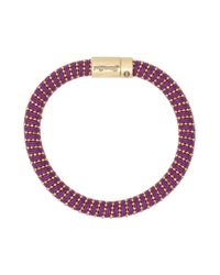 Carolina Bucci - Purple Yellow Gold Twister Bracelet - Lyst