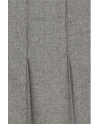 Chloé | Gray Pleated Wool-flannel Skirt | Lyst