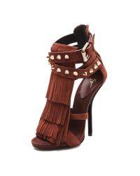 Giuseppe Zanotti | Brown Fringed Sandals | Lyst
