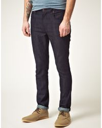 Nudie Jeans | Blue Tape Ted Organic Dry Grey Jeans for Men | Lyst