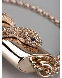 Roberto Cavalli | Metallic Horn and Panther Pendant | Lyst