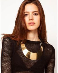 ASOS - Black Pack Of Two Cut Out Torque Necklaces - Lyst