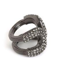 BaubleBar - Gray Pave Athena Ring - Lyst