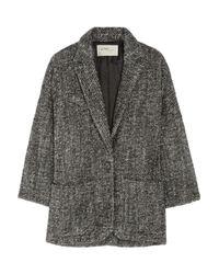 Étoile Isabel Marant - Black Xavier Bouclé Wool and Alpaca blend Coat - Lyst