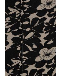 Farhi by Nicole Farhi Black Floral Print Silk Top