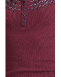 Free People   Purple Lucky Stretch-Cotton Tank Top   Lyst
