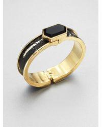 Kara Ross | Black Python Onyx Cuff Bracelet | Lyst