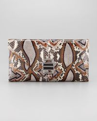 Kara Ross | Blue Electra Medium Ikat Python Clutch Bag | Lyst