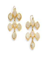 Kara Ross | Red Marquis Druzy Chandelier Earrings | Lyst