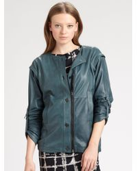 Kelly Wearstler - Blue Fallen Convertible Leather Jacket - Lyst