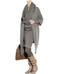 Lanvin - Natural Concealed-wedge Crinkled-leather Knee Boots - Lyst