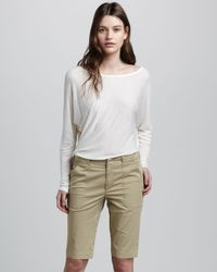 Vince | Natural Bermuda Shorts | Lyst