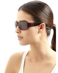 Saint Laurent | Brown Round Sunglasses - Havana/green | Lyst