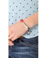 Venessa Arizaga - Red Love You Mucho Bracelet - Lyst