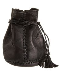 Wendy Nichol - Brown Triangle Patchwork Bullet Bag - Lyst
