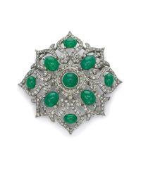 Ben-Amun - Green Burst Brooch - Lyst