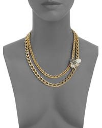 Judith Leiber | Metallic Bumble Bee Swarovski Crystal Necklace | Lyst