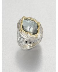 Konstantino - Metallic Astritis Prasiolite, 18k Yellow Gold & Sterling Silver Ring - Lyst