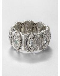 Konstantino | Metallic Prasiolite & Sterling Silver Cuff Bracelet | Lyst