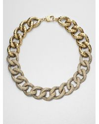 St. John - Metallic Antique Chain Necklace - Lyst