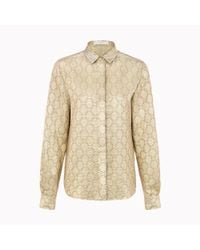 Stella McCartney - Metallic Fraser Silk Lurex Shirt - Lyst