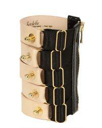 Bordelle | Black Studded Leather Banded Cuffs Bracelet | Lyst