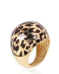 Faraone Mennella - Metallic Leopard Print Enamel Ring - Lyst