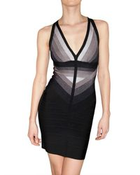 Hervé Léger - Black Gradient Bandage Dress - Lyst