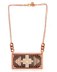 Hirschell | Pink Ci Pixel Double Cuivre Necklace | Lyst
