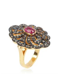 Jade Jagger - Metallic Victorian Ring - Lyst