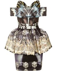 Mary Katrantzou | Multicolor Nebraska Printed Silk-blend Satin Dress | Lyst