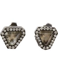 Monique Péan - Black Diamond Triangular Stud Earrings - Lyst