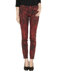 Notify | Red Bamboo Python-print Mid-rise Skinny Jeans | Lyst