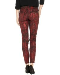 Notify - Red Bamboo Python-print Mid-rise Skinny Jeans - Lyst