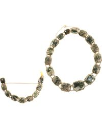 Olivia Collings - Gray Moss Agate Riviere Necklace Bracelet Set - Lyst