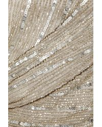 Paul & Joe | Silver Floride Strapless Beaded Tulle Gown | Lyst