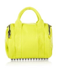 Alexander Wang | Yellow Rockie Textured Leather Bag | Lyst