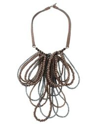 Brunello Cucinelli - Black Brunello Cucinelli Necklace - Lyst