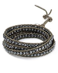Chan Luu | Gray Leather Wrap Bracelet | Lyst