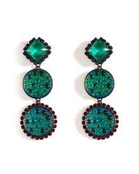 Erickson Beamon - Atlantis Iridescent Green Garden Party Earrings - Lyst