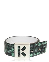 KENZO | Green Tejus Printed Leather Bracelet | Lyst