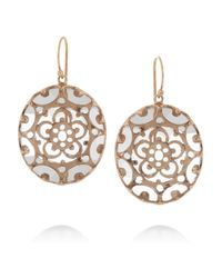 Laurent Gandini - Metallic Orecchini Bisanzio 9karat Rose Gold Rock Crystal Earrings - Lyst