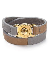 Marc By Marc Jacobs - Gray Katie Double Wrap Leather Bracelet - Lyst