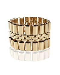 Michael Kors - Metallic Wide Deco Link Bracelet - Lyst