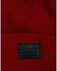 Nike - Red Fisherman Beanie for Men - Lyst