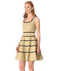 RED Valentino - Natural Striped A-Line Dress - Lyst