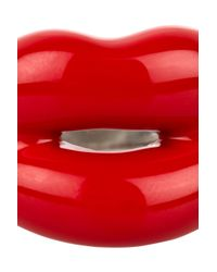 Solange Azagury-Partridge - Hot Lips Lacquered Sterling Silver Ring - Lyst