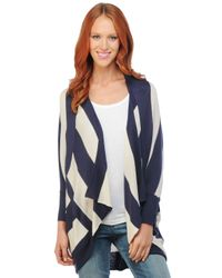 Splendid | Blue Cozy Rugby Stripe Cardigan | Lyst